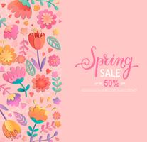 Bannière de vente de printemps.