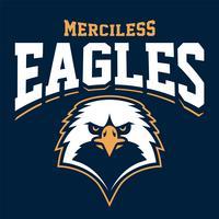 Emblème du sport mascotte aigle