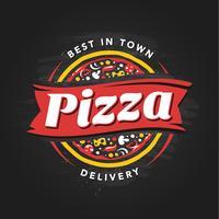 Pizzeria emblème de vecteur