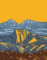parc national de la réunion parc national de la réunion france art déco wpa vecteur
