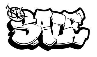 Graffiti vecteur vente grande inscription