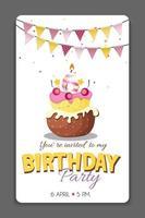 Carte d'invitation de fête d'anniversaire modèle vector illustration