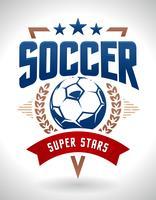 Emblème de football de vecteur
