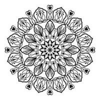 mandala islamique de méditation relaxation motif floral arabe vecteur
