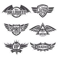 Emblèmes avec ailes vecteur