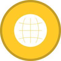 Glyphe du monde rond cercle multicolore
