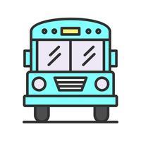 Icône de ligne remplie d'autobus scolaire
