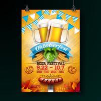 Illustration de l'affiche fête Oktoberfest