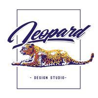 Léopard, vecteur, conception
