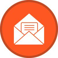 Icône de courrier rempli