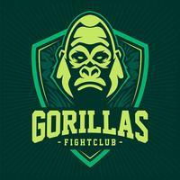 Conception d'emblème de mascotte de gorille vecteur