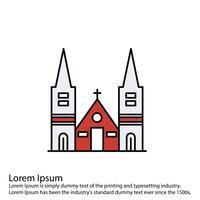 Icône de chapelle de vecteur