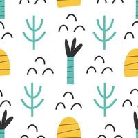 motif - papier numérique sans couture imprimé abstrait enfantin dessiné à la main vecteur