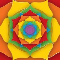 lotus sacré aux sept couleurs des chakras pour le yoga vecteur