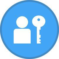 Icône remplie d'authentification d'utilisateur