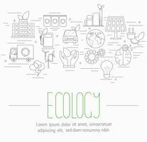 ensemble de symboles d'écologie vecteur