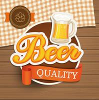 Emblème de la qualité de la bière. vecteur