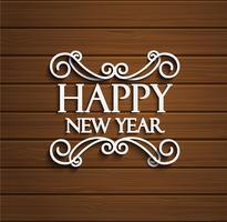 Étiquette typographique de nouvel an.