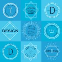 Ensemble d'insignes et de logotypes vintage rétro. vecteur