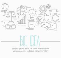 Symboles de grandes idées d'affaires
