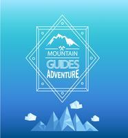 Emblème de montagne de vecteur. vecteur