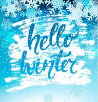 Bonjour hiver carte de voeux. Vecteur.
