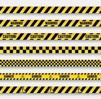 Bandes et signaux d'avertissement de vecteur.