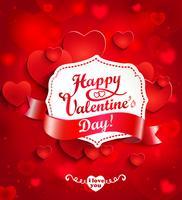 Fond de Saint Valentin avec des coeurs.