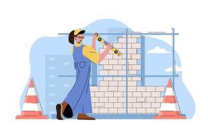 concept de construction de gratte-ciel pour site Web et site mobile vecteur