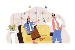 concept de temps de fête pour site Web et site mobile vecteur