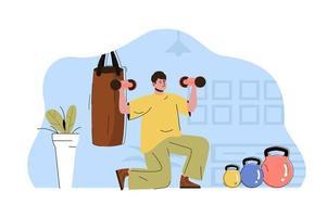 concept d'entraînement corporel pour site Web et site mobile vecteur