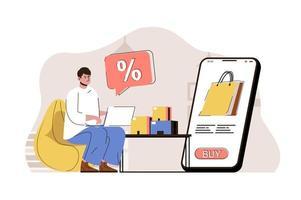 concept de remise saisonnière pour site Web et site mobile vecteur