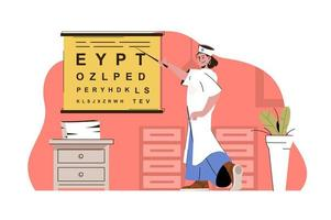 concept de services d'optométriste pour site Web et site mobile vecteur