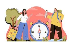 concept de temps de trajet pour site Web et site mobile vecteur