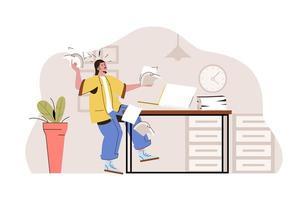 concept de gestion du temps pour site Web et site mobile vecteur