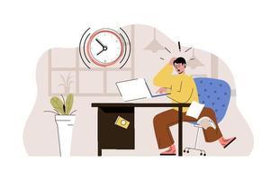 concept de date limite à venir pour le site Web et le site mobile vecteur