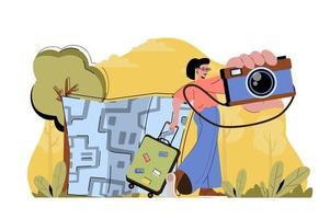 concept de capture d'impressions pour site Web et site mobile vecteur