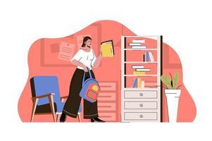 concept d'école professionnelle pour site Web et site mobile vecteur