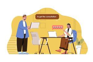 concept de centre d'appels pour site Web et site mobile vecteur