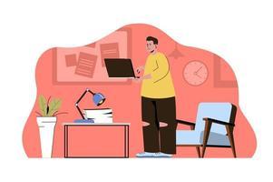 concept de travail collaboratif pour site web et site mobile vecteur