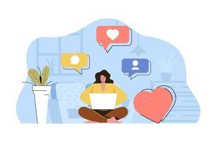 concept de créateur de contenu pour site Web et site mobile vecteur