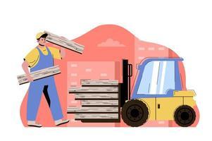 concept de construction de ville pour site Web et site mobile vecteur