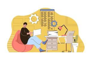 concept de coworking culturel pour site Web et site mobile vecteur