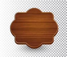 Modèle de cadre vintage rétro isolé en bois vecteur