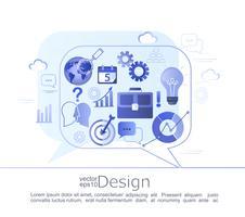 Concept infographique créatif de conversation. vecteur