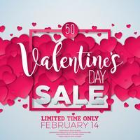 Fond de vente Saint Valentin vecteur
