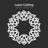 Gabarit de découpe laser. Carte ronde. Découper Mangala vecteur