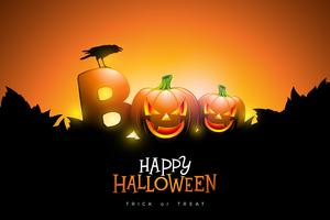 Boo, conception joyeuse Halloween