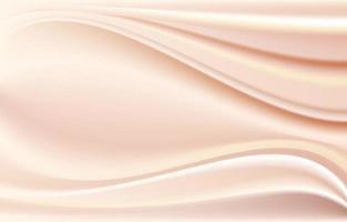 texture de soie beige élégante et lisse vecteur