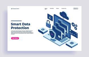 concept de protection des données et contrôle de carte de crédit comme confidentiel vecteur